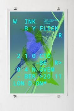 Wink flickr festival #design #graphic #identity #poster #typography