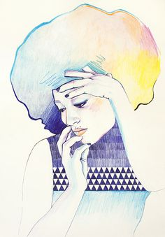 Illustrations by Cristina Polop (3) #girl #color #drawing #illustration #pencil