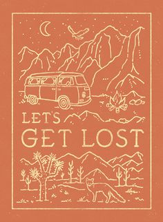 Let's get lost - lettering by WEAREYAWN #lettering #travel #typography