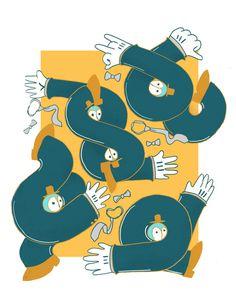 Lets do the twist. www.anditisgood.com #dance #dancing #circles #illustration #twist #art #drawing