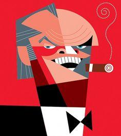 Pablo Lobato | Fubiz™ #cubist #illustration #jack #nicholson