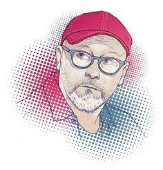 Wojciech Smarzowski for Przekroj #glasses #illustration #cap #smarzowski #portrait