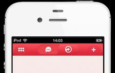 Iphone App navigation bar UI - Mobile Interface - Creattica