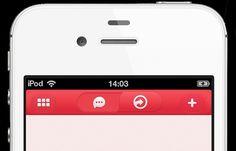 Iphone App navigation bar UI - Mobile Interface - Creattica #bar #mobile #nav #buttons