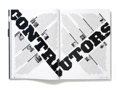 Plastique Magazine: Issue 2 Â« Studio8 Design #spread #magazine #typography