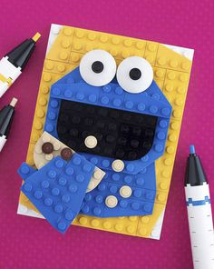 LEGO Brick Sketches | Picame Daily dose of creativity #sesame #lego #cookie #muppets #street #monster