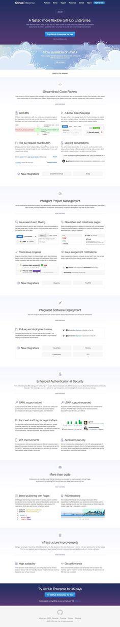 GitHub Enterprise 2.0 Release Page #design #web #ux #ui