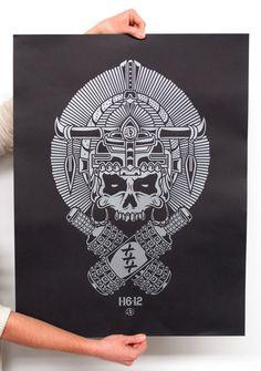 Sanctuary Printshop » Custom illustrated posters for Austin Longboard Club