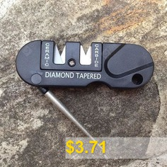 Outdoor #EDC #Portable #Multifunctional #Sharpener #Rod #- #BLACK
