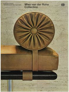 Cover for Knoll International product brochure. #massimo #vignelli #derohe #van #der #cover #rohe #knoll #mies #brochure
