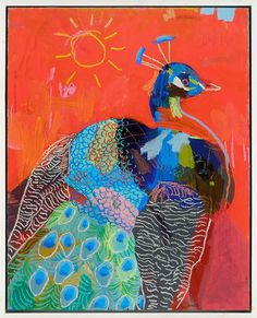 "Andy Dixon | Peacock | 24"" X 30"" #peacock #art"