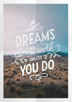 Dreams don't work Poster #print #poster
