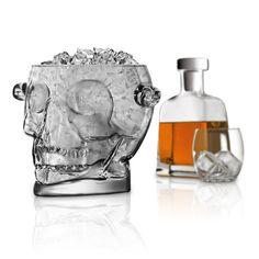 Brainfreeze Glass Skull Ice Bucket #kitchenware