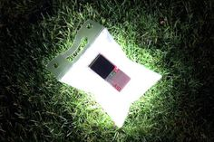 The LuminAID: an inflatable solar light which is lightweight, solar-rechargeable, and waterproof.