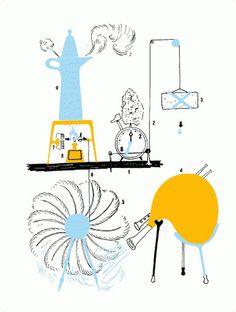 Risultato della ricerca immagini di Google per http://www.corraini.com/coradmin/tmp/files/photogallery/252-MUN_macchineMunari_02.gif #munari #bruno #design #italian #illustration