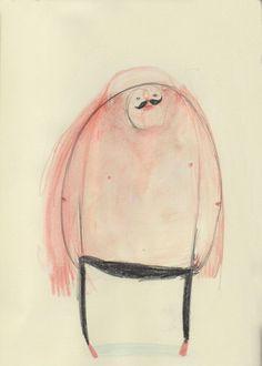 Giant. http://www.davidlitchfieldillustration.com #man #illustration #giant