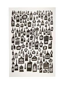 Serge Lowrider art print #bottles