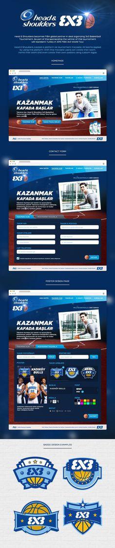 Head & Shoulders 3x3 Microsite #shoulders #streetball #badge #3x3 #design #head #microsite #website #and #basketball