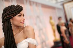 zendaya #zendaya #dress #oscars #braids