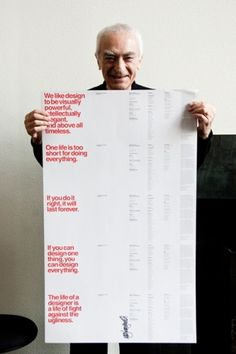 The Five Vignelli-isms by Massimo Vignelli