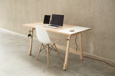 Unknown #interior #chair #wood #furniture #desk