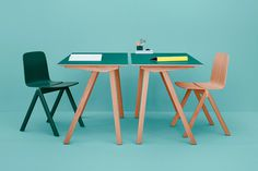 HAY X RONAN & ERWAN BOUROULLEC: COPENHAGUE #chair #design #set #wood #furniture #industrial #desk