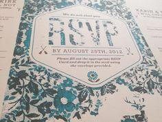 Printed Invites #invite #wedding