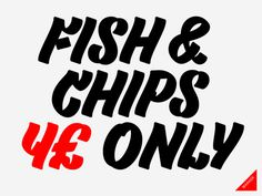 Type #& #chips #fish #hand-drawn