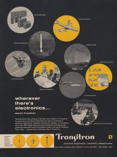 All sizes | Transitron Ad | Flickr - Photo Sharing! #print #yellow #black #transitron #50s #grey