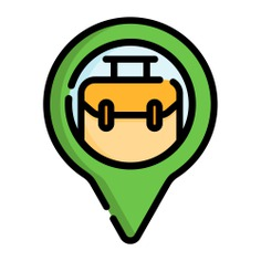 See more icon inspiration related to pin, marker, maps and location, map pointer, map point, map location, placeholder, navigation, briefcase, point, office, interface, suitcase, signs and location on Flaticon.