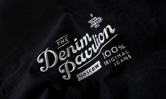 Denim Pavilion #logotype #lettering #denim #typography