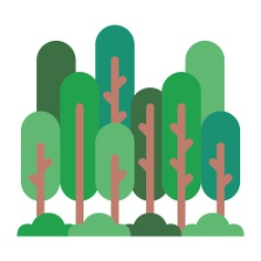 See more icon inspiration related to forest, woodland, pines, trees, woods, landscape and nature on Flaticon.