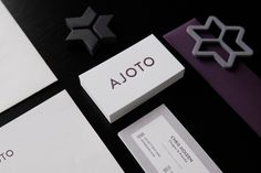 AJOTO #business #card #print #design #letterpress #ajoto #identity