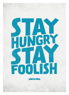 Steve Jobs Quote poster Stay Hungry, Stay Foolish Typography wall decor print A3 #steve #prints #quote #jobs #art #poster #typography