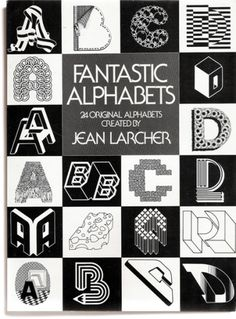 MatterPrinted › Curated covers of printed matter, Title: Fantastic Alphabets | Designer: Jean... #books #typography