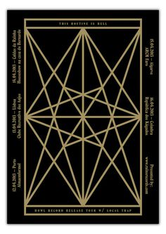 m borges:in collaboration withRicardo MartinsforRuins Records. Gold ink on black paper (screen printing)