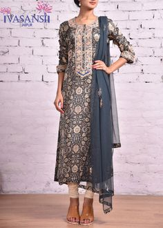 Vasansi Green Silk Salwar Suit
