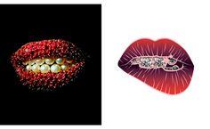 Salvador Dali's Lips Brooch and Maria Umiewska's Sparkling Smile illustration