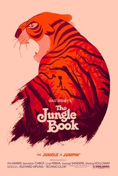 Reinvented Disney posters by Mondo-The Jungle Book #illustration #poster