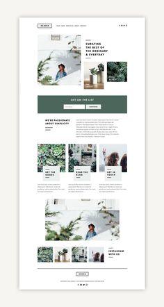 Acadia Squarespace Kit - Station Seven WordPress Themes