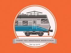 #train #dribbble #dilk #invite #style #Ukraine #train #dilk #flat #illustration