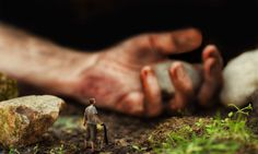 Photograph David #tiny #borrower #ground #perspective #photo #soil #manipulation #hand