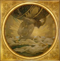 Atlas and the Hesperides, John Singer Sargent (1925) #illustration #painting #circle #atlas #strong #strength