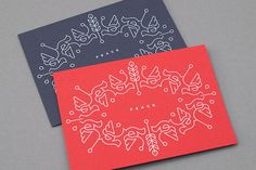 Christmas card 2012 › Dan Forster #card #screenprint #holiday