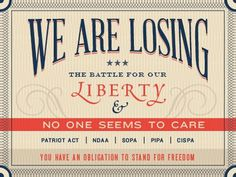Dribbble - We Are Losing the Battle For Our Liberty by Benjamin Friesen