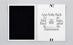 Swiss Legacy | Swiss Legacy, by the initiative of Art Director Xavier Encinas, is a blog focused on typography, graphic design and inspirati #white #design #book #black #spread #mono #type