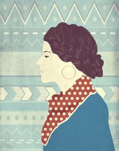 Report Comment #girl #hipster #scarf #illustration #braid