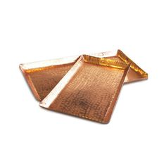 Beaten Copper Rectangle Tray 20cm x 40cm