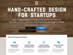 Startup Designer #resources #handcrafted #page #design #free #email #web #landing #newsletter
