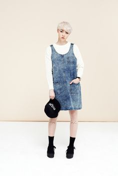 Denim Pinafore Dress Blue #photography #retail